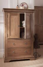 French Farmhouse Oak Linen Cupboard / Storage Linen Cabinet Solid Wood / New