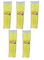 "500 pack 14"" Yellow 50 Lbs Nylon Cable Wire Management Zip Ties"