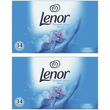 68 x Lenor Tumble Dryer Spring Awakening Fabric Softener Sheets, Freshen Clothes