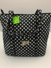 Vera Bradley Collegiate Purdue University XL Vera Tote Book Travel Bag Purse NWT