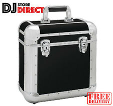 """RELOOP Club Series 60 - 12"""" Vinyl Record Box Storage Case in BLACK - FREE P&P"""