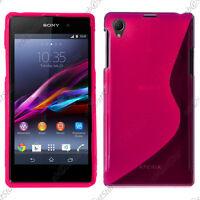 Housse Etui Coque Silicone Motif S-line Gel Souple Rose Sony Xperia Z1 L39H