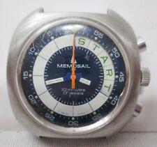 VINTAGE anni 1970 MEMOSAIL CHRONO Yachting orologio - 17 JEWELS-viene eseguito
