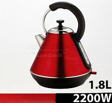1.8L Litre Cordless Electric Kettle Fast Boil Jug Washable Filter 2200w Red