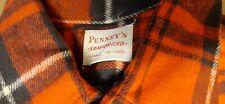 New listing Vtg J C Penneys 50s Deadstock Nos Sanforized Cotton Flannel Shirt Plaid S Work