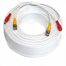 150ft 45M White Security Camera Video Power Cable Cord BNC RCA Wire for DVR CCTV