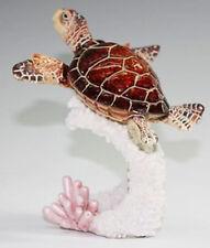 "SHELTON   Brown Sea Turtle    Statue figurine  H5"""