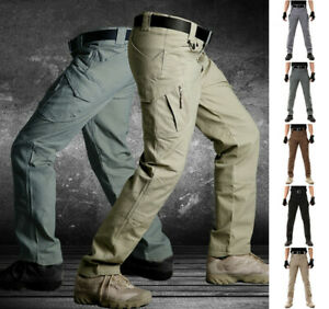 IX9 Men Military Tactical Cargo Pants Swat Army Training Hiking Hunting Trousers