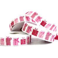 ACUFACTUM*Schmuckwebband*2cm*(5,20€/m)*Weihnachten*KERSTIN HESS*Pakete*Pinkrot*