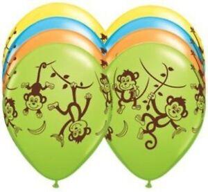 """TEN 11"""" latex BALLOONS party MONKEY jungle ZOO favors BIRTHDAY gift DECOR vhtf"""