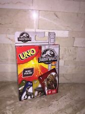 JURASSIC WORLD UNO CARD GAME NEW