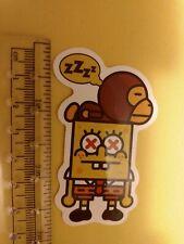 dead sponge bob with deade monkey sticker