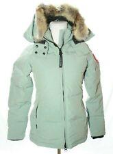 Canada Goose Chelsea Fur Trim Womens Down Parka 3804L Stormy Sky XS $895