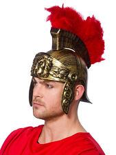 Roman Gladiator Helmet Soldier Perseus Warrior Gold Greek Fancy Dress Outfit Hat