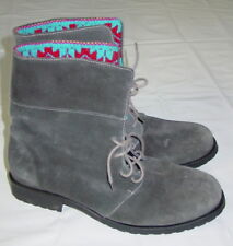 Fortress of Inca Boots Gray Suede Boots US 9.5 Hand Made in Peru Laces