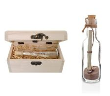 A Traditional MESSAGE IN A BOTTLE Keepsake Gift PERSONALISED with Treasure Chest