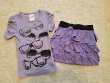 KnitWorks 2 pc outfit sz S 7 8 set top shirt and ruffled skirt Adoooorable!