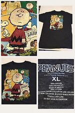 Peanuts Charlie Brown XL Grey T Shirt Soft Cartoon Graphic B