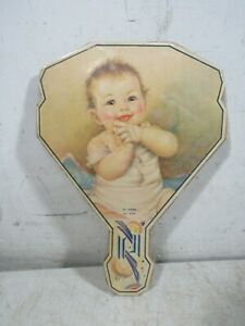 Vintage/Antique 1930s O.H.K. Cardboard Hand Fan Hi There Baby 529 Art Deco