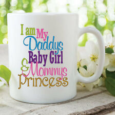 Daddy's Girl Mommy's Princess Mugs Fathers Day Mothers Coffee Cup 11oz WSDMUG564