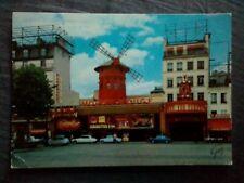 Carte postale écrite Paris Moulin Rouge 1973