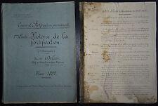 CBA DELAIR: Histoire de la Fortification  / 1882