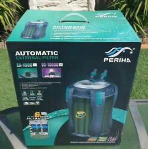 EC1500U PERIHA Aquarium External UV Canister Filter 1500L/H MEDIA Salt & Fresh