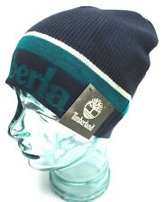 TIMBERLAND Winter Hats Beanie Navy Blue/White One Size Fit Most New