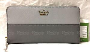 Kate Spade PWRU5073 Cameron Street Lacey Zip Wallet BIG SMOKE GREY Gray NWT NIP