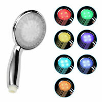 7 LED Colors Changing: Colorful Shower Head Home Bathroom Water Glow Light New
