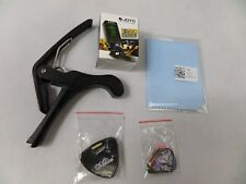 Guitar Accessories Kit Electric Acoustic Tuner, Capo, Plectrums, Holder, Cloth