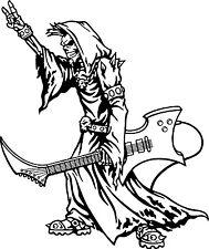 Grim Reaper Guitar Music Rock N Roll Car Truck Window Vinyl Decal Sticker