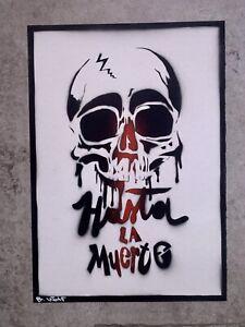 Street Art ... Thauma And B- Wolf street - Blue- Blur art signed