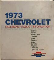 1973 Chevy Sales Training Dealer Showroom Album Original Chevrolet OEM Pictures