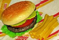 Fake food Burger King HAMBURGER Replica + FRIES stack Realistic MTC Rubber Props