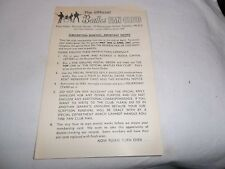 THE BEATLES OFFICIAL FAN CLUB MEMBERSHIP RENEWAL FORM MAY 1966 - APRIL 1967 RARE