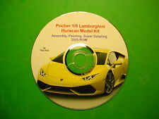 POCHER 1/8 LAMBORGHINI HURACAN ASSEMBLY, PAINTING, SUPER DETAILING DVD-ROM