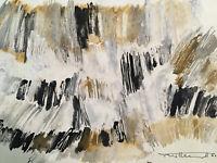 Peinture huile originale Georges Van Haardt 1907-1994 Abstraction poétique 1960