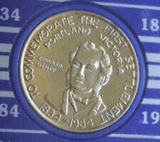 SESQUI-CENTENARY COMMEMORATIVE MEDAL MELBOURNE 1834/35 1984/85 GOLD PLATE #WBR40