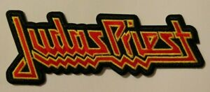 """Judas Priest~Patch~Embroidered~5 1/4"""" x 2""""~Iron or Sew on~Heavy Metal Rock"""