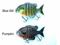 """4"""" Blue Gill Fishing Lure For large Mouth Bass, Stripers, Musky and Pike"""