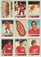 1977-78 OPC Detroit Red Wings 20 Card Team Set G to NM (01-03202020)