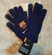 Nike FC Barcelona Supporter FCB Knitted Tech Gloves SIZE SMALL/MEDIUM