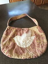 Just Be Dove Handmade Purse Tapestry Brocade Textured Cloth Vintage Inspired $80