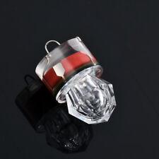 LED Deep Drop Underwater Diamond Flashing Fishing Light Squid Strobe Bait Lure Red