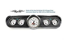 66 Mustang Standard 5 Gauge Classic Instrument Bezel & Comp 2 White Sport Gauges