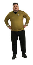 FANCY DRESS COSTUME ~DLX STAR TREK CAPTAIN KIRK GOLD XL