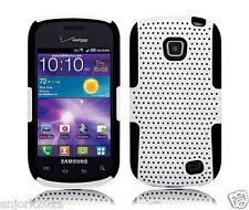 Samsung Galaxy Proclaim Illusion Mesh Hybrid Case Skin Cover White Black