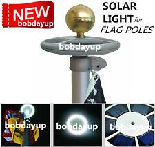 SunnyTech Upgraded Solar Flag Pole Flagpole Light 20LED Top Mount Garden decor