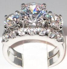 5.1 CT. BOLD Past Present & Future CZ Bridal Engagement Wedding Ring Set- SIZE 9